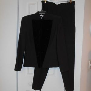Christian Dior brown wool suit size 8